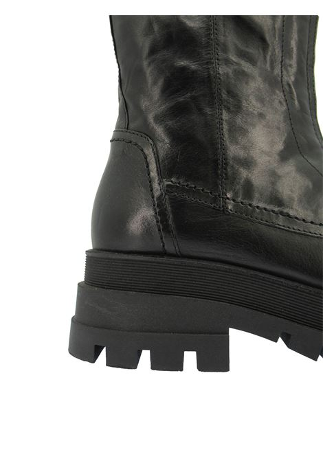 Women's Shoes Amphibious Ankle Boots in Black Leather with Strap and Buckle with Tank Sole Bruno Premi | Ankle Boots | BC2902X001