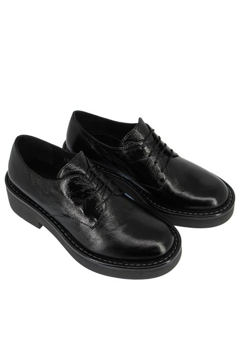 Women's Shoes Lace-up in Glossy Black Leather with High Rubber Sole Bruno Premi | Lace up shoes | BC3802X001