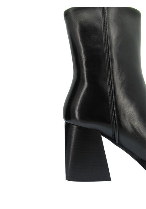 Women's Shoes Ankle boots in Black Leather Square Toe High Heel Non-slip Rubber Sole Bruno Premi | Ankle Boots | BC5101X001