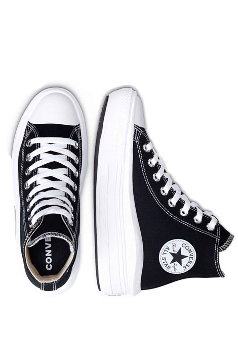 Women's Shoes Sneakers Chuck Taylor Hight Top in Black Canvas and Ultra-lightweight Platform Sole Converse | Sneakers | CHUCK TAYLOR568497C