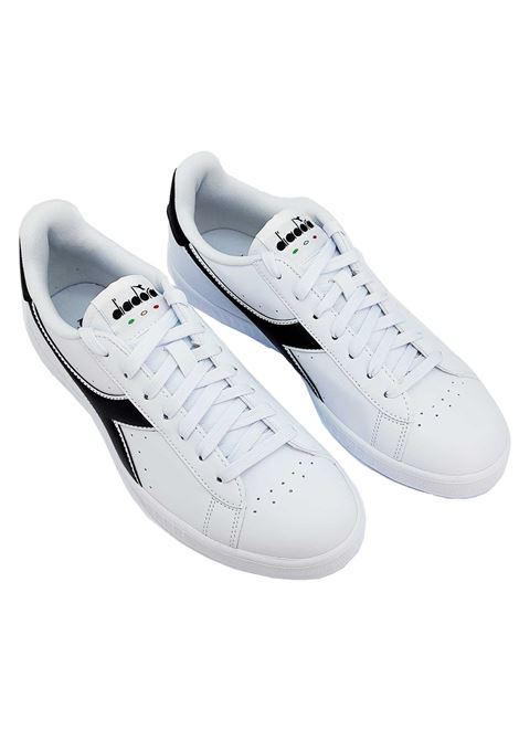 Men's Sneakers Game P in White Eco-leather and Black Logo 160281 Diadora | Sneakers | GAME PC1380