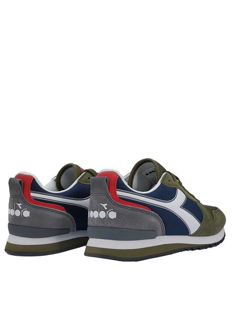 Men's Shoes Sneakers Olympia in Green and Brown Fabric and Eco-leather 174376 Diadora | Sneakers | OLYMPIA70431