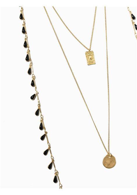 Women's Accessories Necklace Gold Brezza with Pendants and Black Drops EI.EL |  | BREZZE18