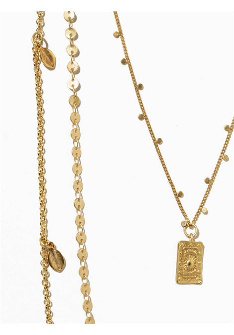 Women's Accessories Necklace Gold Brezza with Chains and Rectangular Pendant EI.EL |  | BREZZE24