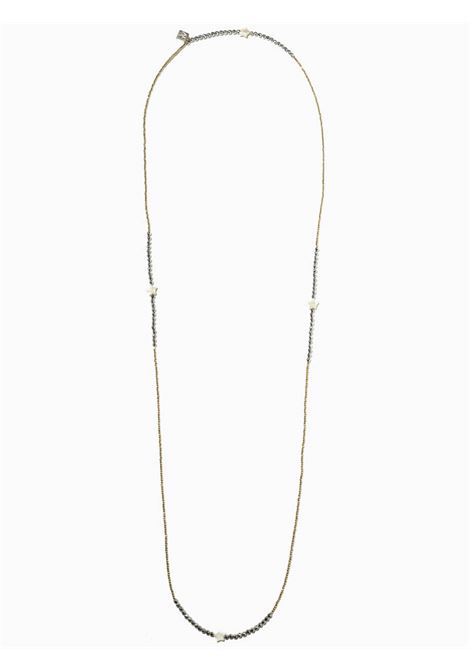 Women's Accessories Necklace Brina in Gold and Silver Hematite with Mother of Pearl Stars EI.EL |  | BRINE08