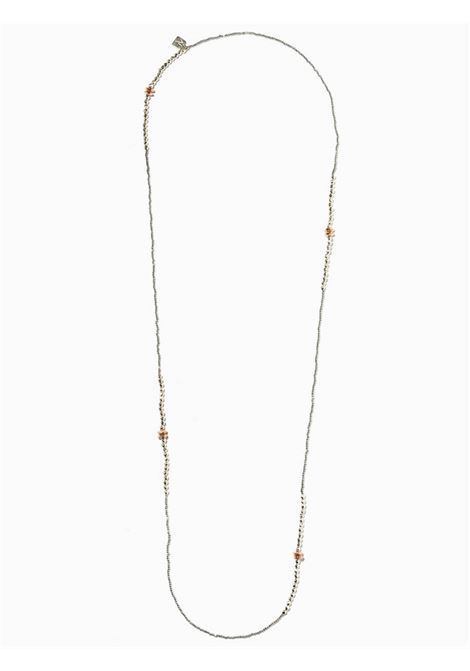 Women's Accessories Necklace Brina in Silver and White Hematite with Pink Washers EI.EL |  | BRINE12