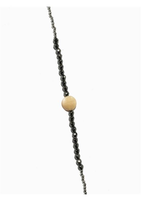 Women's Accessories Necklace Brina in Silver Hematite and Anthracite Grey with Mother of Pearl Buttons EI.EL |  | BRINE19
