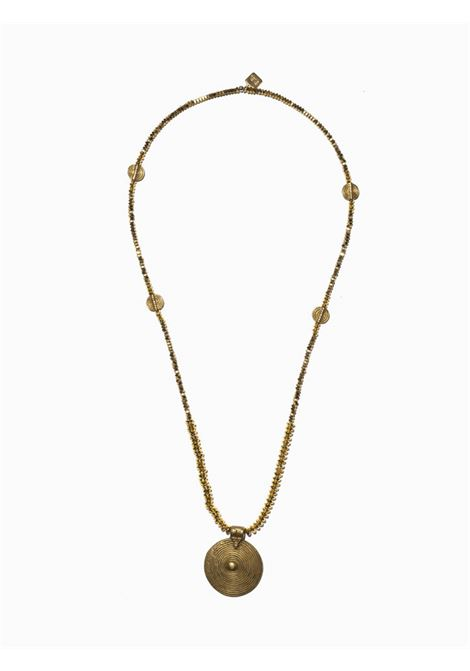 Women's Accessories Necklace Northia in Silver and Gold Hematite Golden Brass with Round Pendant EI.EL |  | NORTHIA10