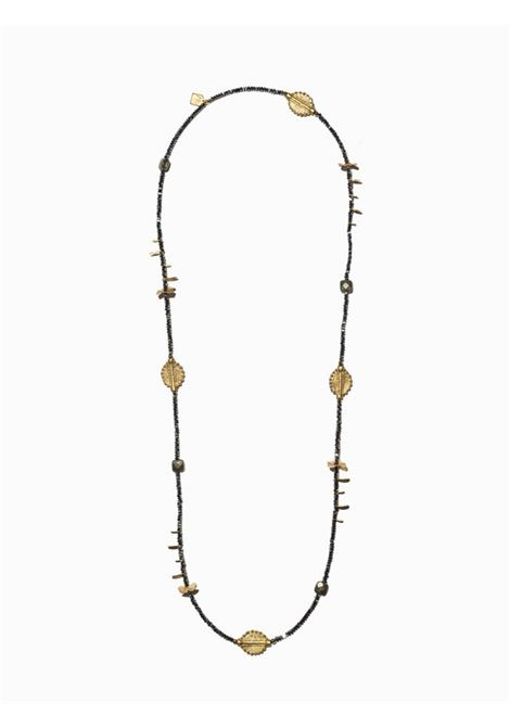 Women's Accessories Necklace Northia in Anthracite Grey Hematite and Pyrite and Brass Pendants EI.EL |  | NORTHIA15