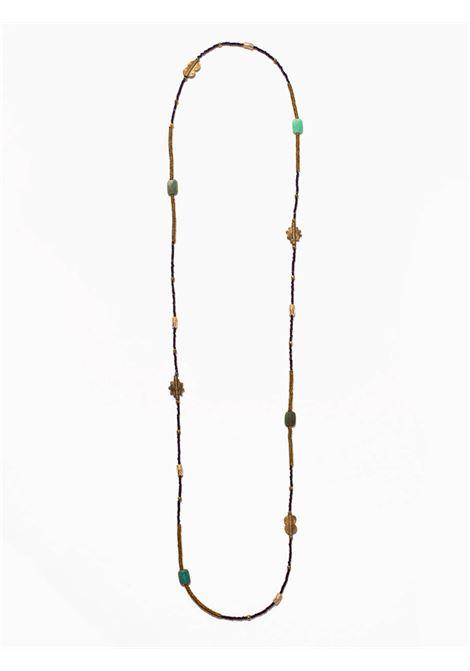 Women's Accessories Necklace Northia with Purple and Golden Hematite and Chrysoprase stones EI.EL |  | NORTHIA19