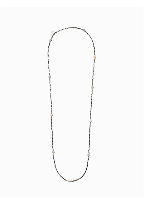 Women's Accessories Necklace Turan in Silver Hematite with Mokaite Chalcedony and Agate EI.EL |  | TURAN04