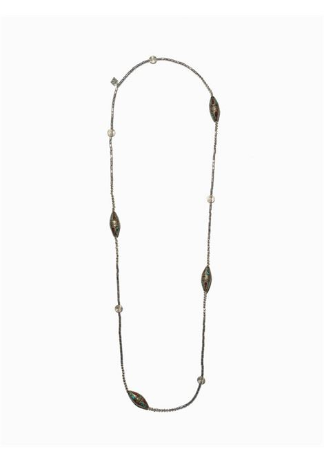 Women's Accessories Necklace Turan in Silver Hematite with Oval Stones EI.EL |  | TURAN07