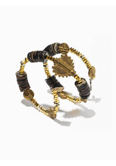 Accessori Donna Bracciale Velia in Ematite Oro con Sfere Black Shell e Rosone Cuore EI.EL | Bracciali | VELIA11