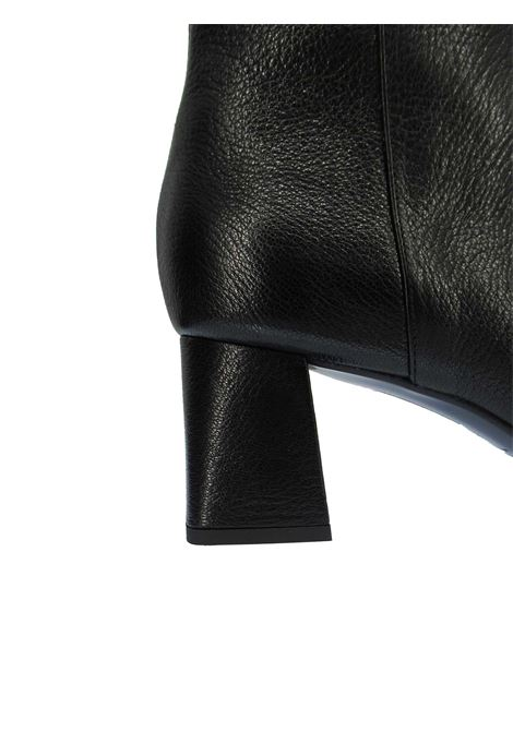 Calzature Donna Stivaletti in Pelle Nera con Punta Quadra Zip Laterale e Tacco Medio Fabio Rusconi | Stivaletti | I-2099001