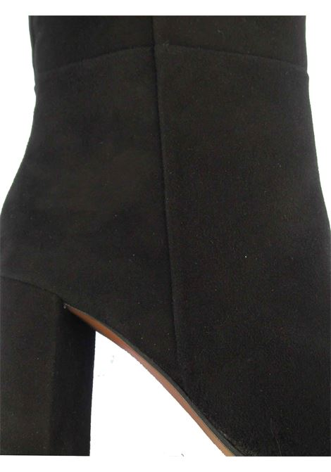 Women's Shoes Boots in Black Suede High in Leg and Matching Heel and Leather Sole Festa | Boots | MASTE001