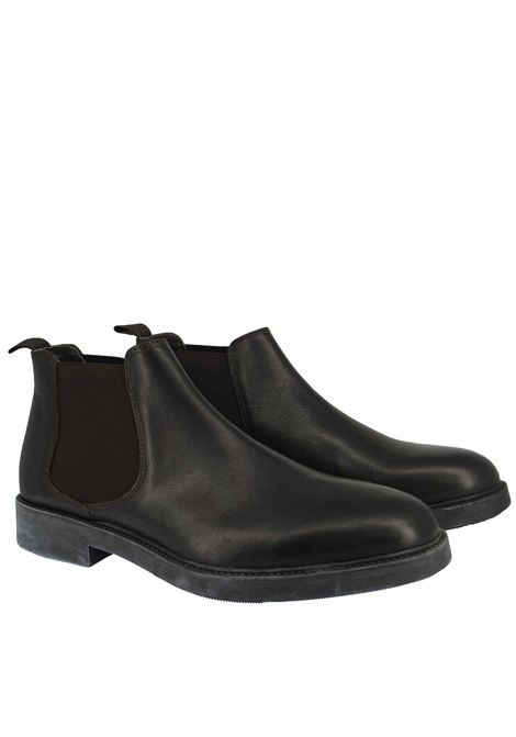 Men's Shoes Beatles in Black Leather with Side Elastic Bands and Waterproof Rubber Sole Florsheim | Ankle Boots | 5185901