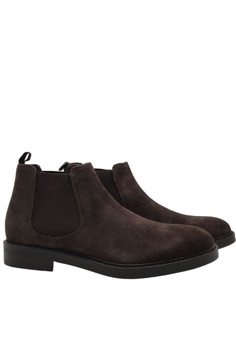 Men's Shoes Beatles in Brown Suede with Side Elastic Bands and Waterproof Rubber Sole Florsheim | Ankle Boots | 5185930