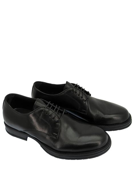 Men's Shoes Lace-up in Black Leather with Ultra-flex Rubber Sole  Florsheim | Lace up shoes | 5269001