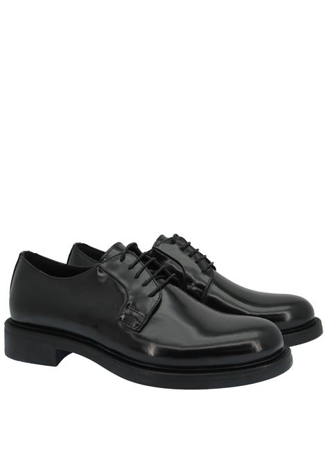 Men's Shoes Lace-up in Black Leather with Smooth Upper and Rubber Sole Florsheim | Lace up shoes | 55272001