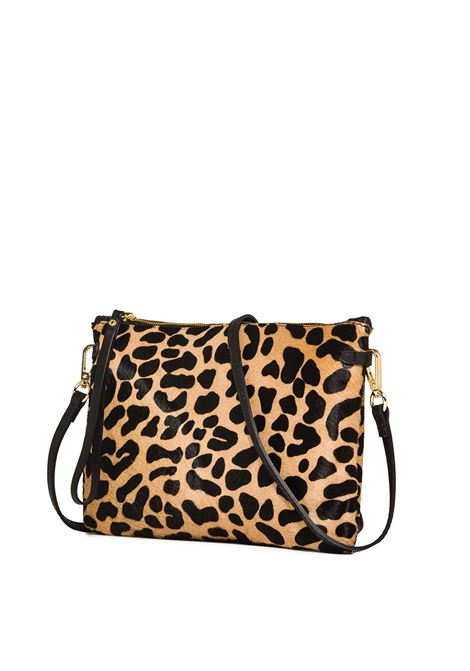 Women's Clutch Bag Maxi Hermy Animalier Pony Skin With Black Leather Carryover With Handle And Cross-body Strap Adjustable And Detachable Gianni Chiarini | Bags and backpacks | BS369510730