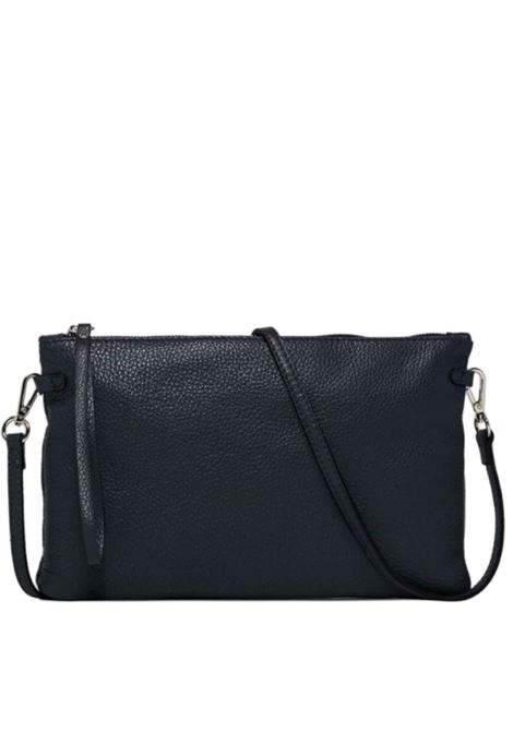 Women's Clutch Bag Maxi Hermy Blue Leather with Handle And Cross-body Strap Adjustable And Detachable Gianni Chiarini | Bags and backpacks | BS369512064