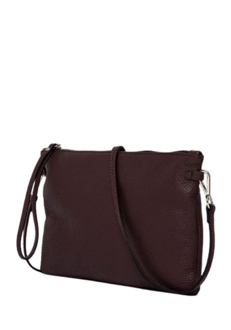 Women's Clutch Bag Maxi Hermy Bordeaux Leather With Handle And Cross-body Strap Adjustable And Detachable Gianni Chiarini | Bags and backpacks | BS36956649
