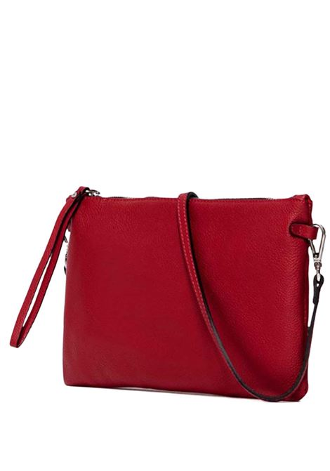 Women's Bag Maxi Hermy Red Leather Clutch With Handle And Cross-body Strap Adjustable And Detachable Gianni Chiarini | Bags and backpacks | BS36959641