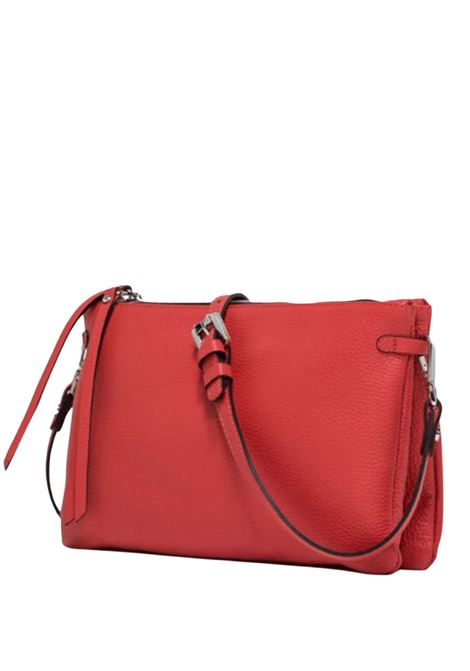 Women's Bag  Double Clutch Hermy In Hammered Red Leather Adjustable And Detachable Cross-body Strap Gianni Chiarini | Bags and backpacks | BS369711707