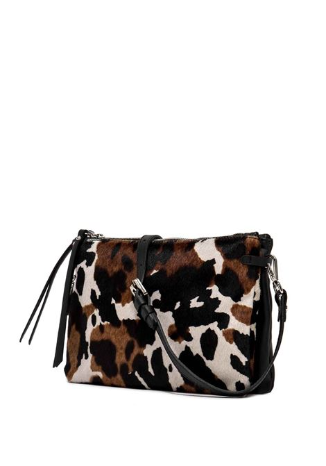 Women's Bag  Double Clutch Hermy In Pony Skin and Black Leather Adjustable And Detachable Cross-body Strap Gianni Chiarini | Bags and backpacks | BS369712181