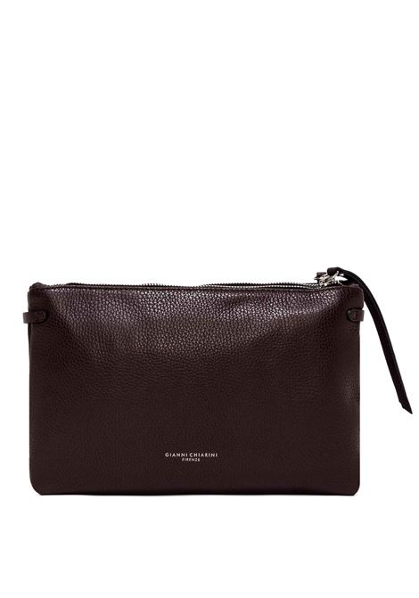 Women's Bag  Double Clutch Hermy In Hammered Bordeaux Leather Adjustable And Detachable Cross-body Strap Gianni Chiarini | Bags and backpacks | BS36976649