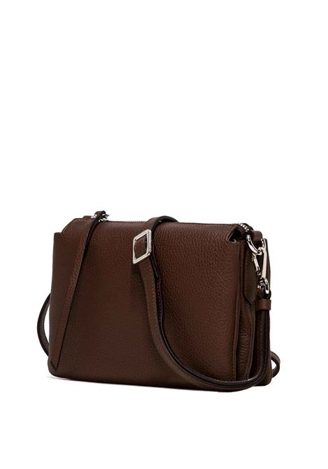 Women's Bag Cross-body Clutch Three In Brown Hammered Leather With Adjustable And Detachable Cross-body Strap Gianni Chiarini | Bags and backpacks | BS43623423