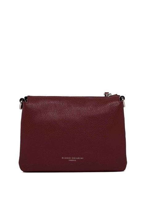 Women's Bag Cross-body Clutch Three In Bordeaux Hammered Leather With Adjustable And Detachable Cross-body Strap Gianni Chiarini | Bags and backpacks | BS43626649
