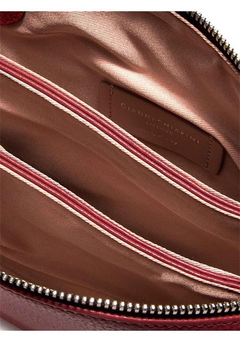 Borsa Donna Pochette a Tracolla Three In Pelle Martellata Rossa con Patta e Tracolla in Pelle Regolabile E Removibile Gianni Chiarini | Borse e zaini | BS43629641