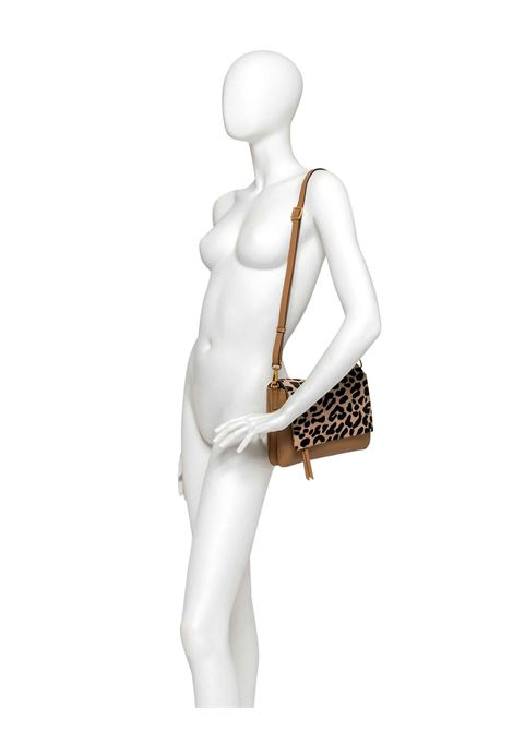 Women's Bag Maxi Three Clutch in Pony Skin And Brown Leather with Flap and Adjustable and Detachable Cross-body Strap Gianni Chiarini | Bags and backpacks | BS436412114