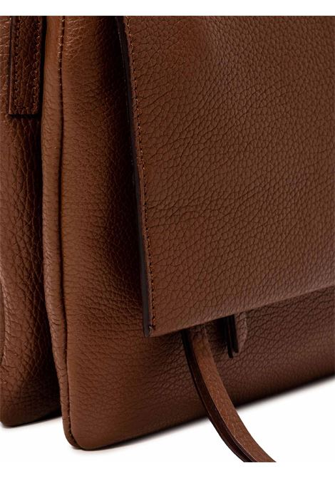 Women's Bag Maxi Three Clutch in Brown Hammered Leather with Flap and Adjustable and Detachable Cross-body Strap Gianni Chiarini | Bags and backpacks | BS43643423