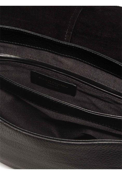 Borsa Donna a Tracolla Maxi Helena Round In Pelle Nera con Patta e Doppia Tracolla in Tono Regolabili E Removibili Gianni Chiarini | Borse e zaini | BS6037001