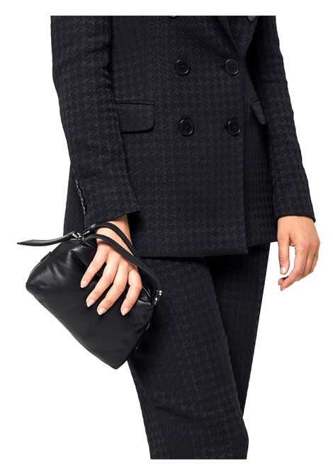 Women's Clutch Bag Mini Alifa In Black Leather with Double Handles and Matching Adjustable And Detachable Cross-body Strap Gianni Chiarini | Bags and backpacks | BS8145001