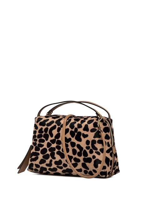 Women's Bag Clutch Maxi Alifa In Pony Skin And Brown Leather With Adjustable And Detachable Cross-body Strap Gianni Chiarini | Bags and backpacks | BS814812114