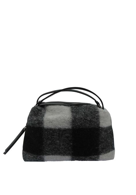 Women's Clucth Bag Alifa In Natural And Black Herringbone Fabric And Black Leather Inserts With Adjustable And Detachable Cross-body Strap Gianni Chiarini | Bags and backpacks | BS825811647