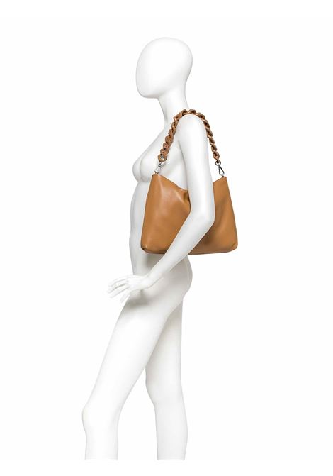 Woman's Shoulder Bag Mini Brenda In Blue Leather With Color Matched Chain And Adjustable And Detachable Cross-body Strap Gianni Chiarini | Bags and backpacks | BS826512064
