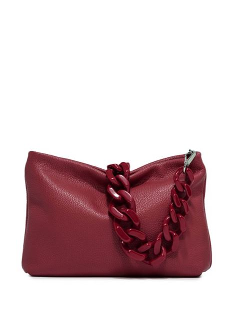 Woman's Shoulder Bag Mini Brenda In Red Leather With Color Matched Chain And Adjustable And Detachable Cross-body Strap Gianni Chiarini | Bags and backpacks | BS82659614
