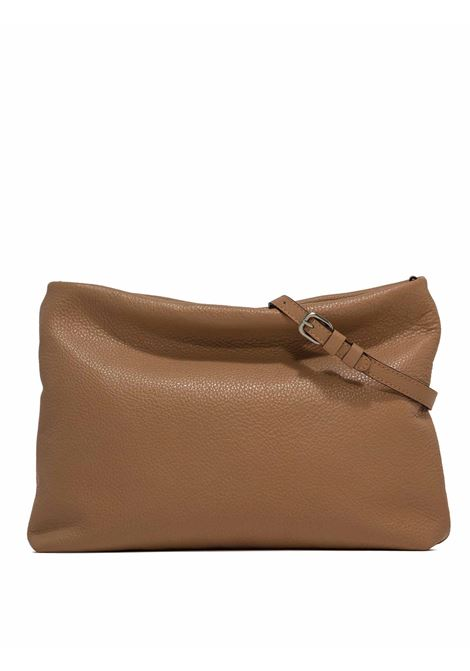 Woman's Shoulder Bag Maxi Brenda In Camel Leather With Color Matched Chain And Adjustable And Detachable Leather Cross-body Strap Gianni Chiarini | Bags and backpacks | BS8266009