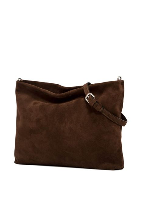 Woman's Shoulder Bag Maxi Brenda In Brown Suede With Gold Chain And Adjustable And Detachable Leather Cross-body Strap Gianni Chiarini | Bags and backpacks | BS8266166