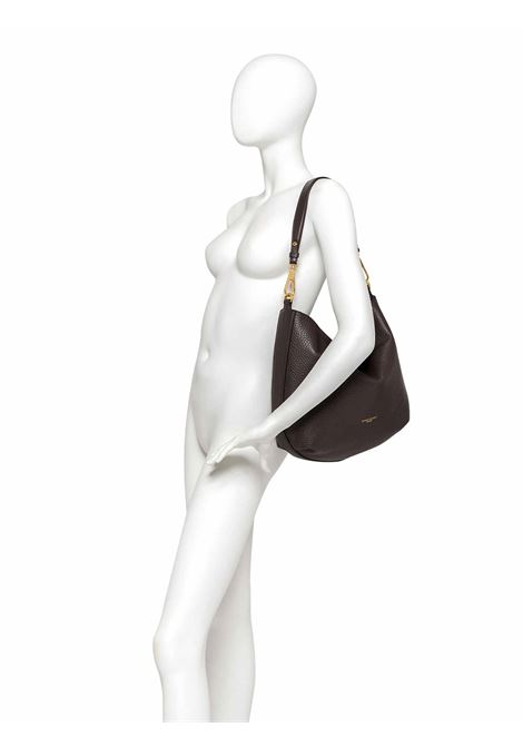 Women's Shoulder Bag Maxi New Stuffy in Brown Leather with Leather Shoulder Handle and Adjustable and Detachable Leather Cross-body Strap Gianni Chiarini | Bags and backpacks | BS83229017