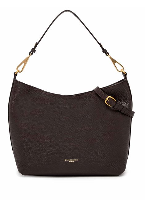 Women's Shoulder Bag New Stuffy in Brown Leather with Leather Shoulder Handle and Adjustable and Detachable Leather Cross-body Strap Gianni Chiarini | Bags and backpacks | BS83239017