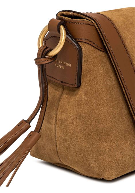 Women's Shoulder Bag Africa In Tan Suede And Tan Leather Braided Handle And Adjustable and Detachable Leather Cross-body Strap Gianni Chiarini | Bags and backpacks | BS837611928