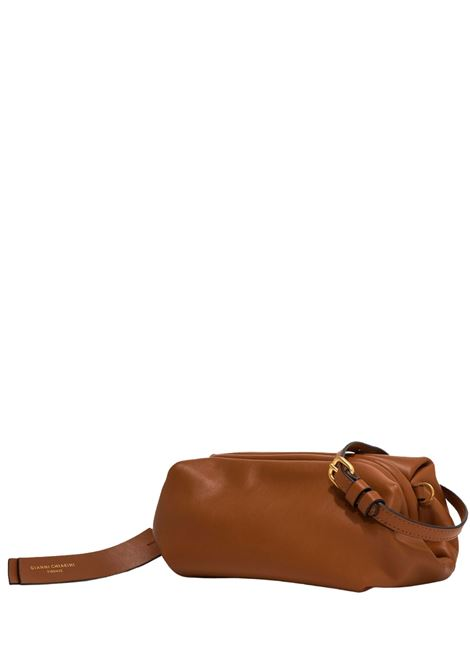Women's Handbag Colette In Tan Leather With Gold Chain Handle And Adjustable and Detachable Leather Cross-body Strap In Matching Color Gianni Chiarini | Bags and backpacks | BS8404206