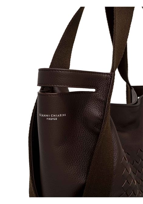 Women's Shoulder Bag Asia In Hand-woven Brown Leather with Double Handles and Suede Shoulder Bags In Matching Color Gianni Chiarini | Bags and backpacks | BS84102545