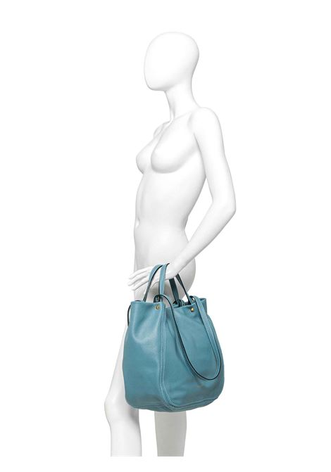 Women's Shoulder Bag Tulip In Black Leather With Double Leather Handles and Double Shoulder Strap in Matching Color Gianni Chiarini | Bags and backpacks | BS8465001