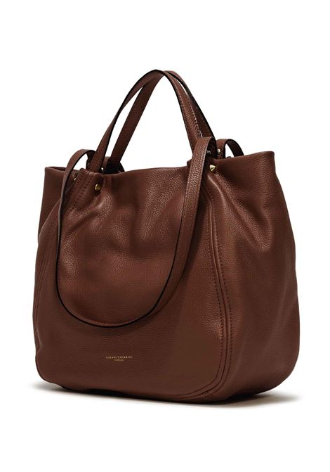 Women's Shoulder Bag Tulip In Brown Leather With Double Leather Handles and Double Shoulder Strap in Matching Color Gianni Chiarini | Bags and backpacks | BS84653423